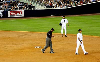 Shortstop Photograph - Derek Jeter At Shortstop by Aurelio Zucco
