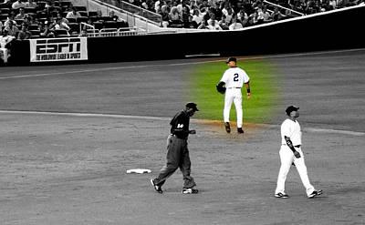 Derek Jeter Digital Art - Derek Jeter At Shortstop Highlighted by Aurelio Zucco