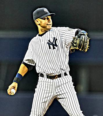 Major League Painting - Derek Jeter by Florian Rodarte