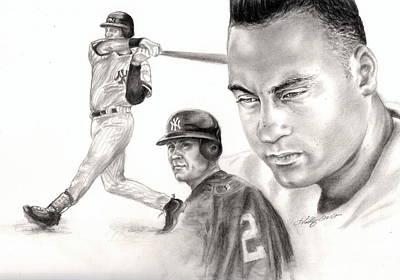 Derek Jeter Drawing - Derek Jeter by Kathleen Kelly Thompson