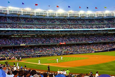 Derek Jeter Digital Art - Derek Jeter Leads The Way As The Yankees Take The Field by Aurelio Zucco