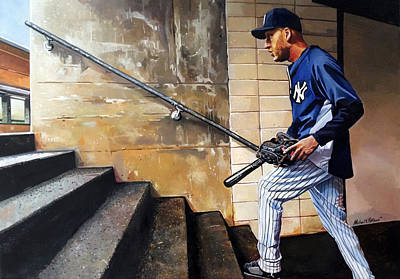 Derek Jeter's Final Game Original by Michael  Pattison