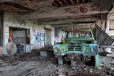 Factory Photograph - Derelict Car Factory by Jim West