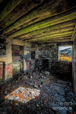 Cracks Digital Art - Derelict Cottage by Adrian Evans