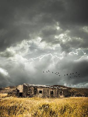 Derelict Rural Building Print by Amanda Elwell
