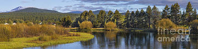 Deschutes River Panorama Print by Twenty Two North Photography