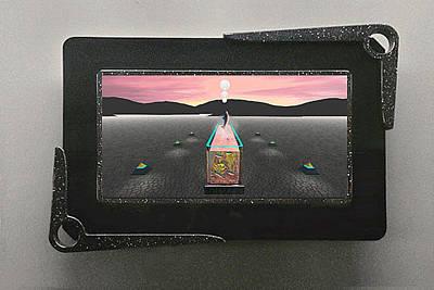 Bleak Desert Digital Art - Desert Aquarium 3d Lenticular Transparency by Peter J Sucy
