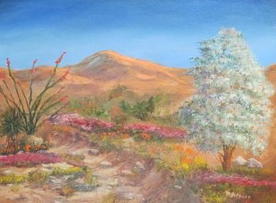Verbena Painting - Desert Color by Marlene Johnson