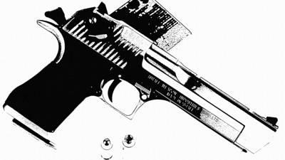 Gun Photograph - Desert Eagle by VRL Art