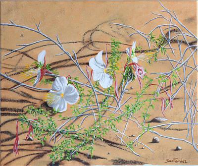 Grande Painting - Desert Flower by Paul Santander