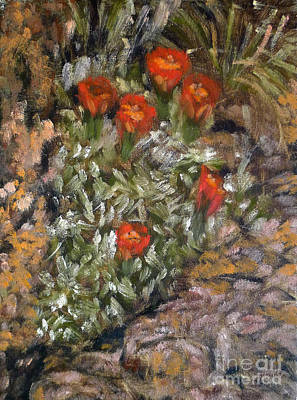Transcend Painting - Desert Flowers by Mukta Gupta