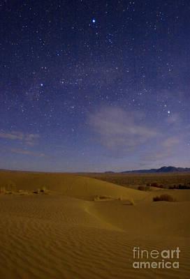 Desert In A Starry Night Print by Babak Tafreshi