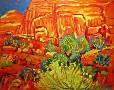 Roadrunner Painting - Desert Landscape by Brian Simons