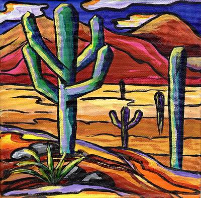 Saguaro Cactus Painting - Desert Light by Alexandria Winslow