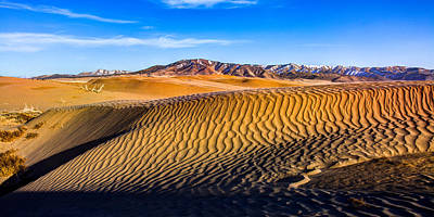 Pano Photograph - Desert Lines by Chad Dutson