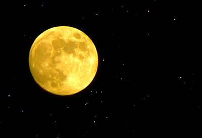 Desert Photograph - Desert Luna Moon And Stars by Sindi June Short