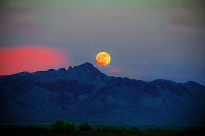 Sunsets Photograph - Desert Moon - Fine Art By Lynn Bauer by Lynn Bauer