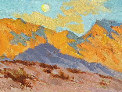 Shadows Painting - Desert Morning La Quinta Cove by Diane McClary