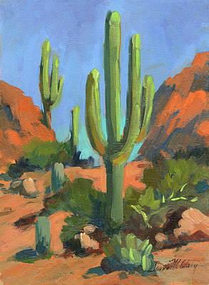 Desert Morning Saguaro Original by Diane McClary