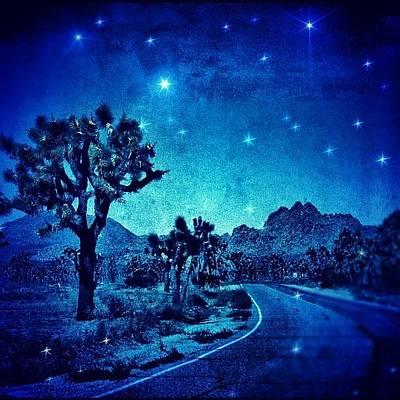 Desert Photograph - #desert #night #nationalpark #darkness by Jill Battaglia