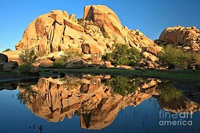 Desert Oasis Reflections Print by Adam Jewell