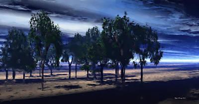 Desert Oasis Print by Wayne Bonney