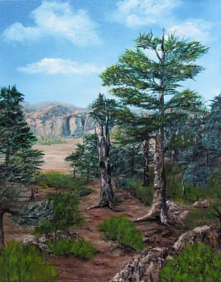 Pine Tree Painting - Desert Overlook by Roseann Gilmore