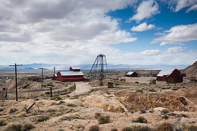 Built Structure Photograph - Desert Queen Hoist House And Mine by Panoramic Images