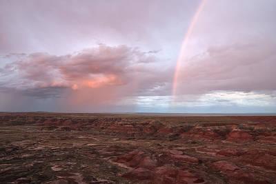 Petrified Forest Arizona Photograph - Desert Rain by Melany Sarafis