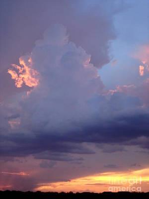 Desert Rainstorm 5 Print by Kerri Mortenson