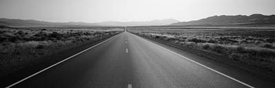 Converging Photograph - Desert Road, Nevada, Usa by Panoramic Images