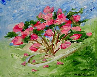 Frier Painting - Desert Rose Abstract by Jamie Frier