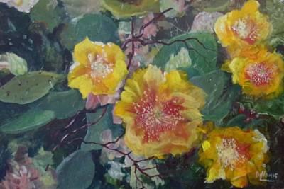 Dillon Painting - Desert Rose by Michael Dillon