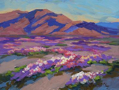 Verbena Painting - Desert Spring by Diane McClary