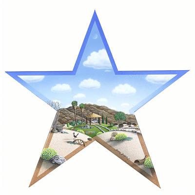Roadrunner Painting - Desert Star by Snake Jagger