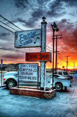 Peggy Sues Diner Photograph - Desert Stop by Steve Parr
