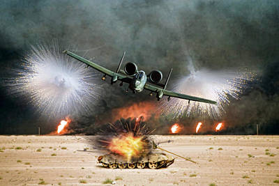 Desert Storm Fury Print by Peter Chilelli