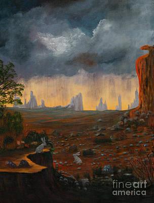 Thunder Painting - Desert Storm by Myrna Walsh