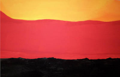 Animation Drawing - Desert Sunrise by Don Koester
