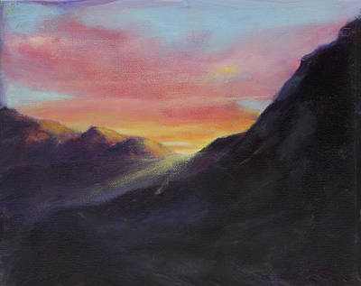 Interior Morning Painting - Desert Sunrise by Maria Hunt