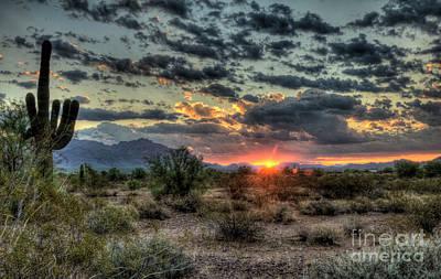 Sonoran Desert Photograph - Desert Sunrise  by Saija  Lehtonen