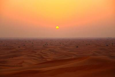 Middle East Photograph - Desert Sunset by FireFlux Studios