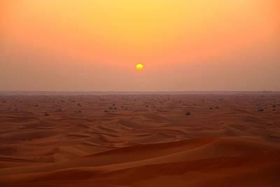 Desert Sunset Print by FireFlux Studios