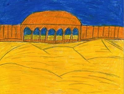 Desert Temple Print by Frances Garry