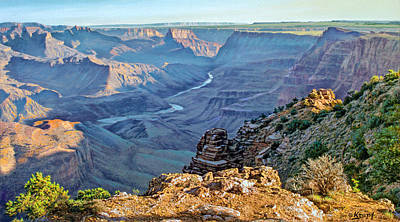 Grand Canyon Painting - Desert View-morning by Paul Krapf