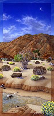Stream Mixed Media - Desert Vista #3 by Snake Jagger