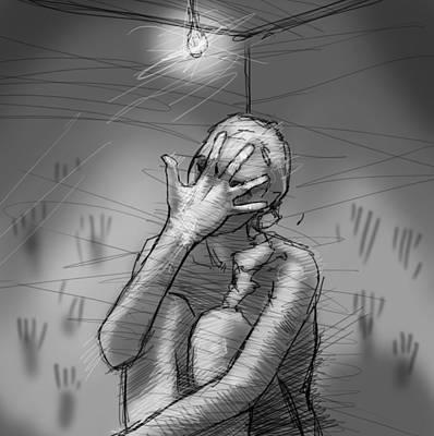Despair Digital Art - Desespoir by H James Hoff