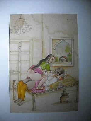 Deshi Kamasutra Painting by Vishnu Swami
