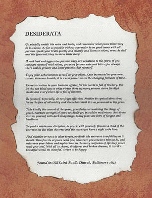 Decoupage Mixed Media - Desiderata by Carol  Eliassen