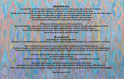 Author Mixed Media - Desiderata Colorful by Dan Sproul
